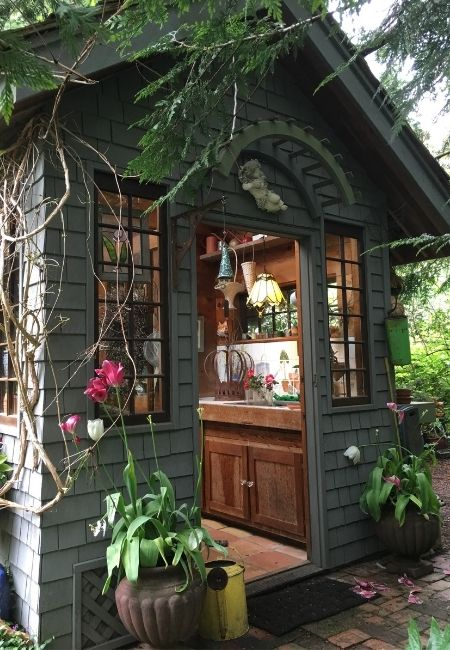 The Perfect Garden Shed Entrance