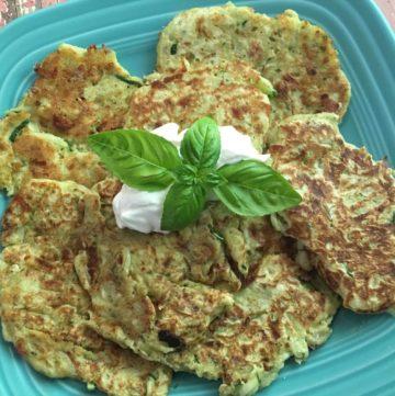 Savory Zucchini Caprese Pancakes