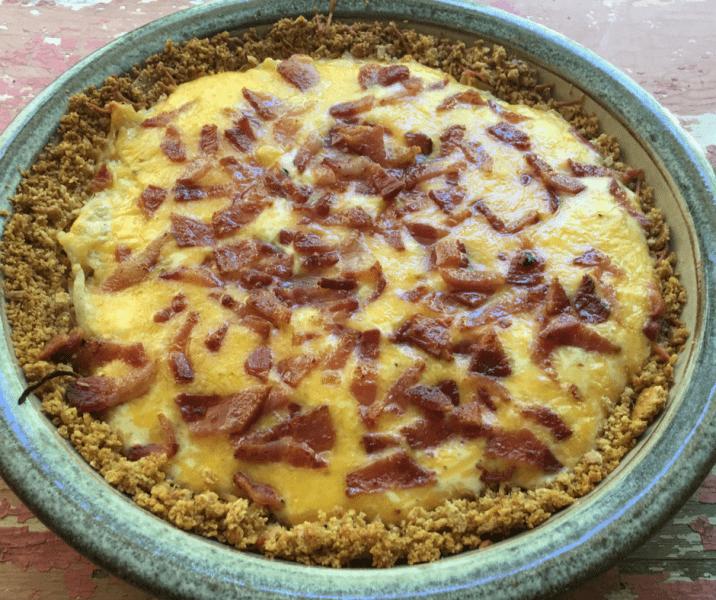 Delicious Sour Cream Onion Bacon Tart