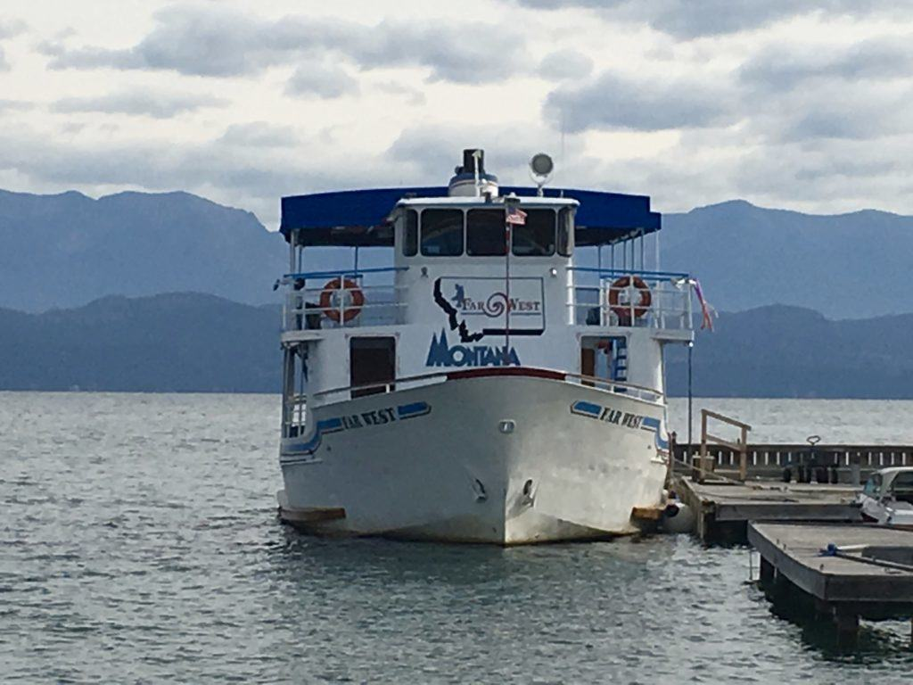 Montana Boat on Flathead Lake on @montanahappy.com