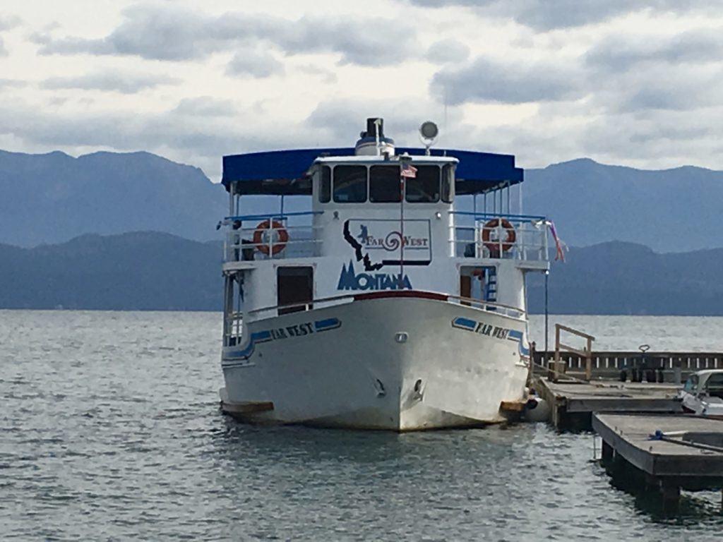 Montana Boat on Flathead Lake on @montanahappy.com