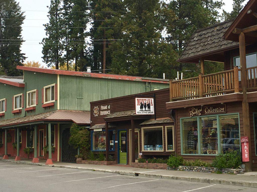 Downtown Bigfork Montana @montanahappy.com
