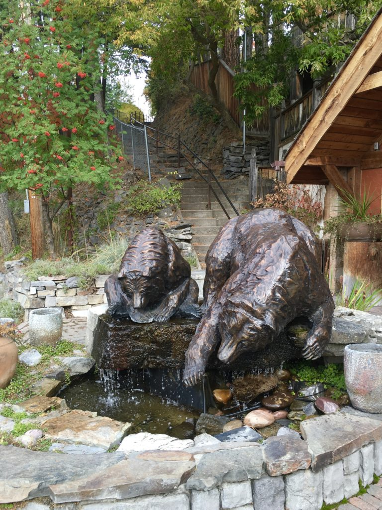 Bear Fountain in Downtown Bigfork Montana