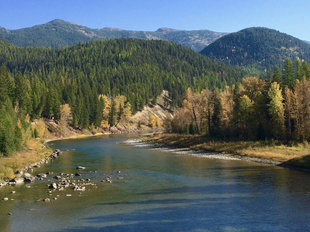Middle Fork Flathead River in Glacier National Park @montanahappy.com