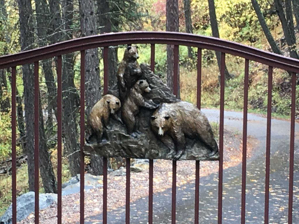Rustic Bear Gate in Whitefish Montana