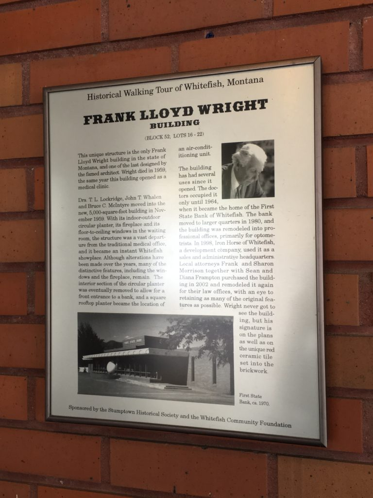Frank Lloyd Wright Building in Whitefish Montana