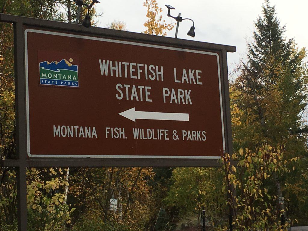 Whitefish Lake State Park in Whitefish Montana