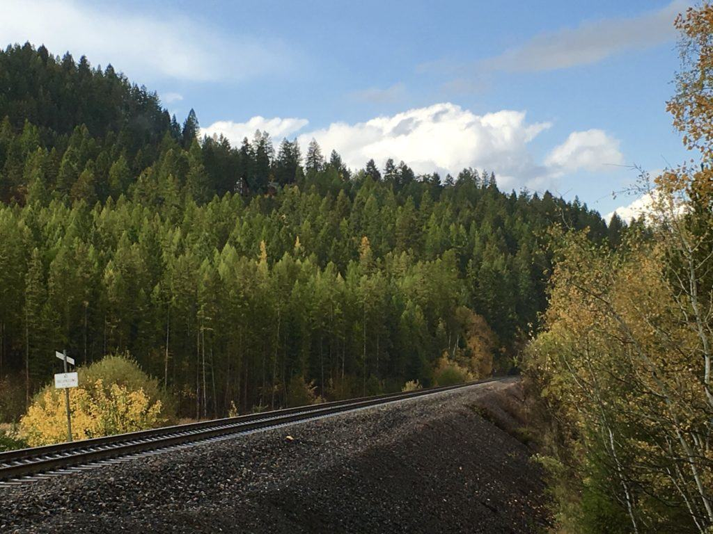 Railroad Tracks in Whitefish Montana