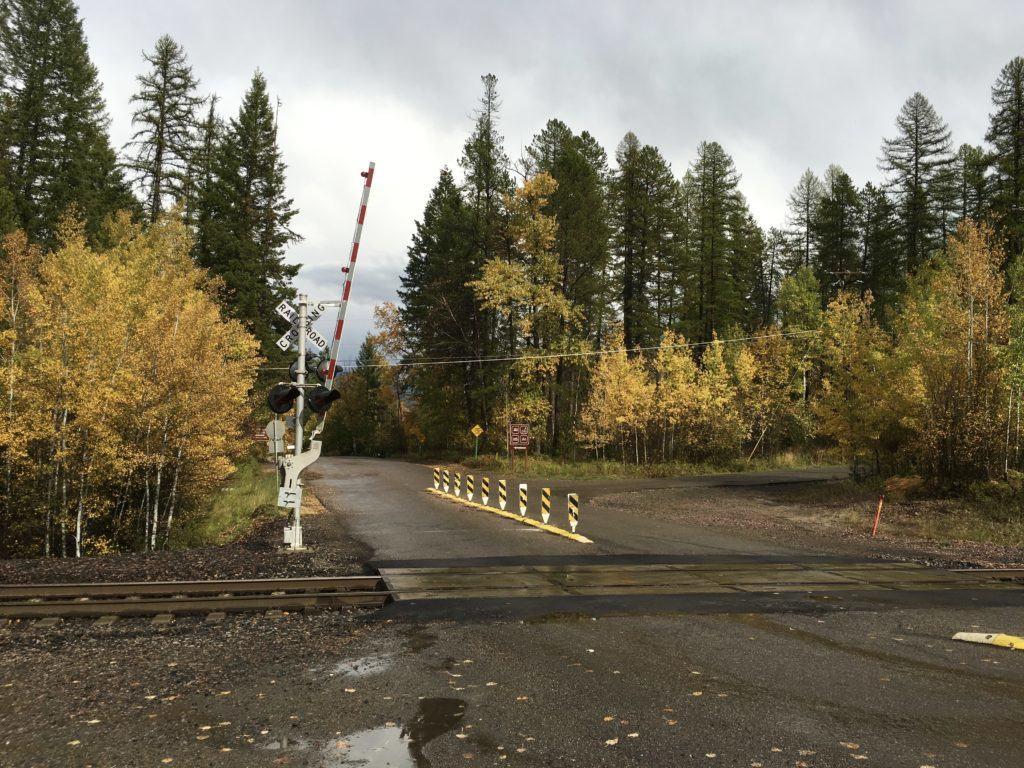 Whitefish Montana Railroad Tracks