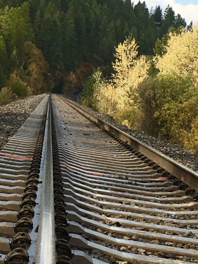 Whitefish Montana Railroad Tracks