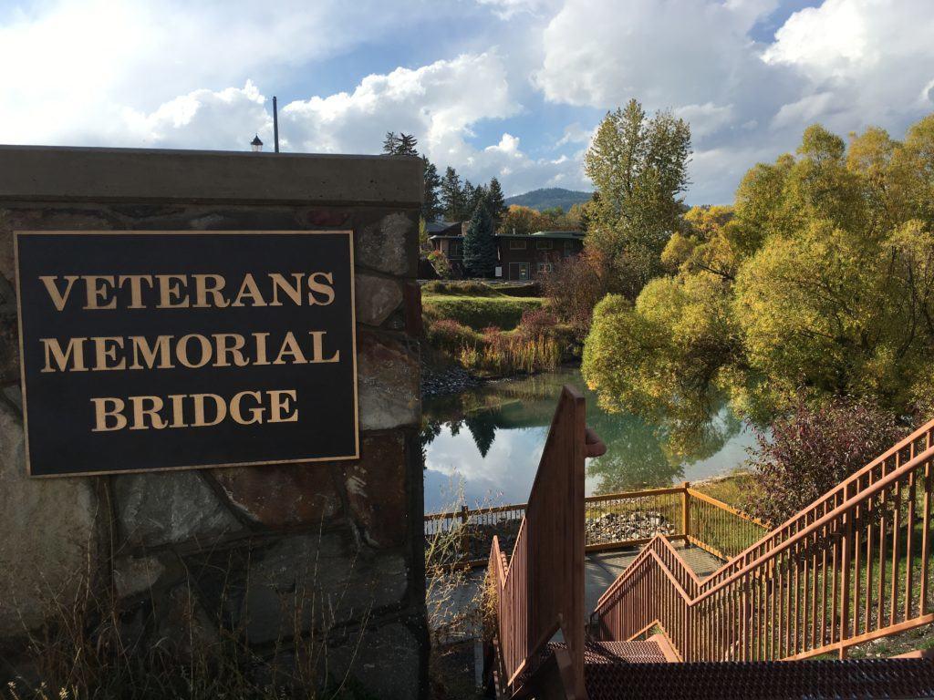 Veterans Memorial Bridge In Whitefish Montana