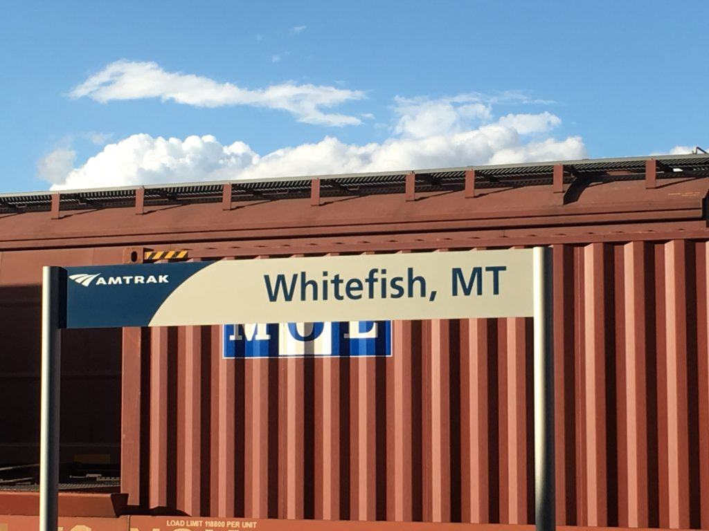 Amtrak Train Station in Whitefish Montana