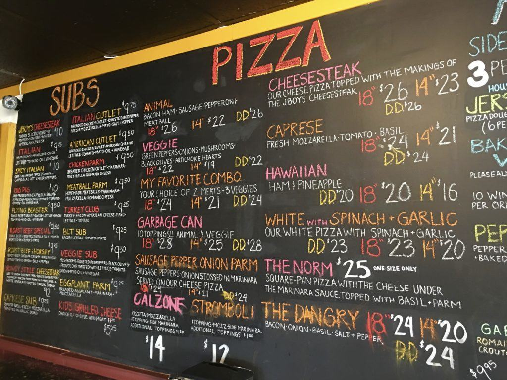 Jersey Boys Pizzeria in Whitefish Montana