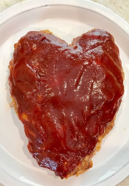 Valentine's Day Dinner Heart-Shaped Turkey Meatloaf Recipe