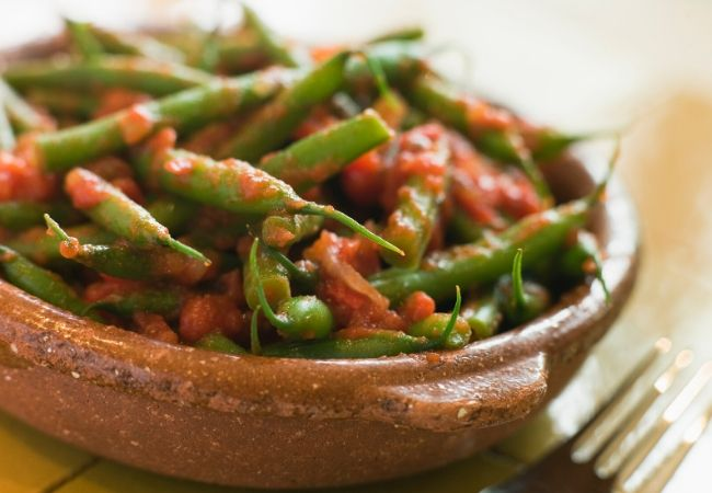 What to serve with ham steak - green beans