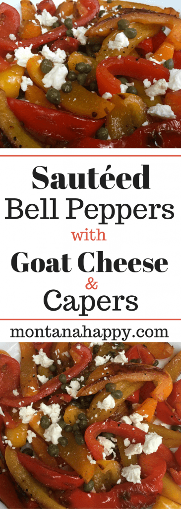 Sautéed Bell Peppers with Goat Cheese & Capers