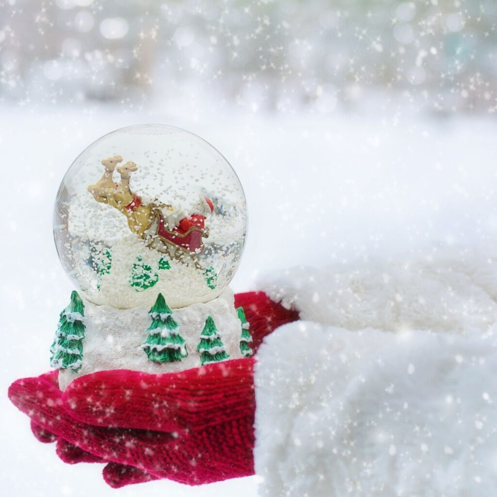 31 Day Hygge Christmas Photo Challenge - Snow Globe in Snow
