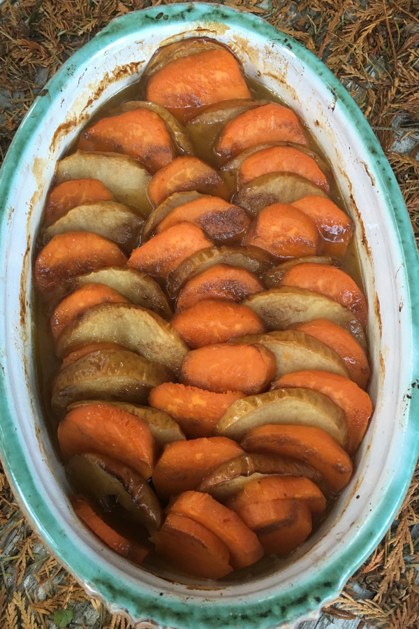 Rustic Candied Sweet Potatoes and Apples