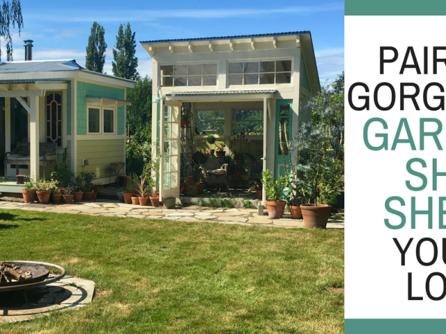 Pair of Gorgeous Garden She Sheds You'll Love