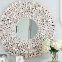 Easy to Make Oyster Shell Mirror • Nourish and Nestle
