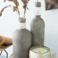 How to Make Sand-Covered Bottles | Table and Hearth