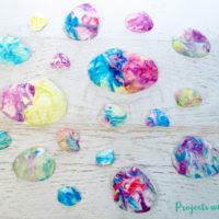 Easy Marbled Seashell Art for Kids