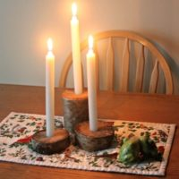 How to Make Rustic Candle Holders from Logs