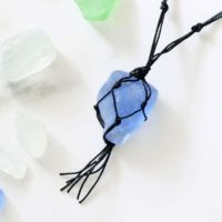 sea glass jewelry: Macrame sea glass necklace tutorial