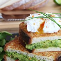 Avocado Stuffed French Toast with Poached Egg