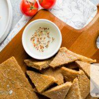 Focaccia Flax Bread ~ paleo, yeast free with vegan option