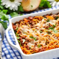 5-Ingredient Amish Easy Baked Spaghetti