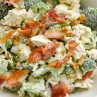 Keto Broccoli Cauliflower Salad (Amish)