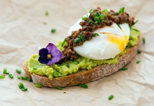 Avocado Toast with Egg and tapenade