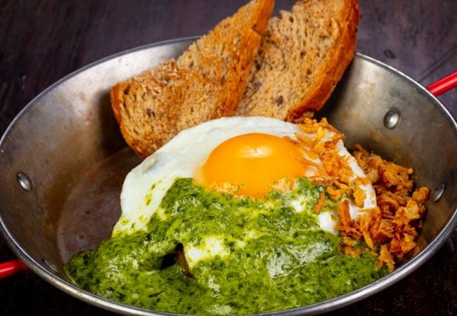 What to Do with Leftover Pesto - Eggs and Toast