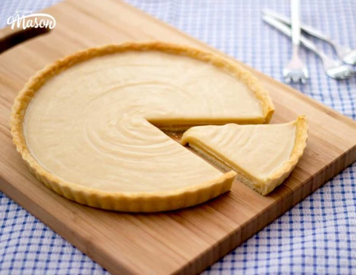 Butterscotch Tart Recipe | Video Tutorial + Step by Step Pics Included