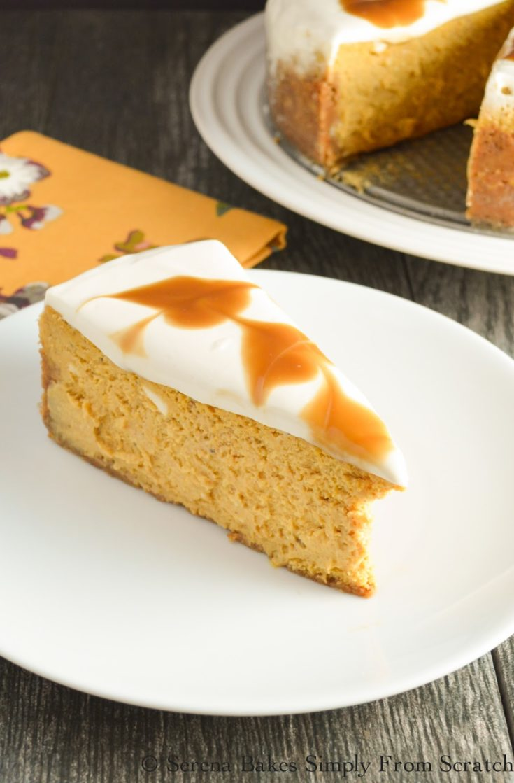 Pumpkin Cheesecake With Butterscotch Swirl
