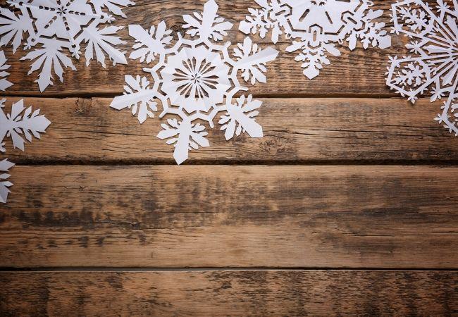 Handmade paper snowflakes