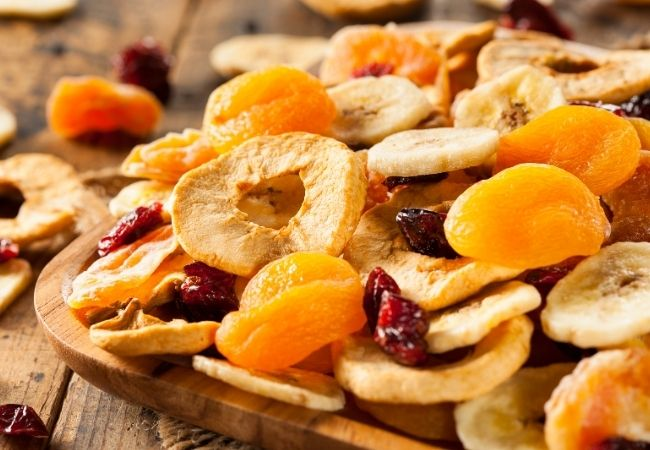Chocolate Fondue Recipe Ideas - Dried Fruit - Slices of dried apples, cherries, apricots, banana slices