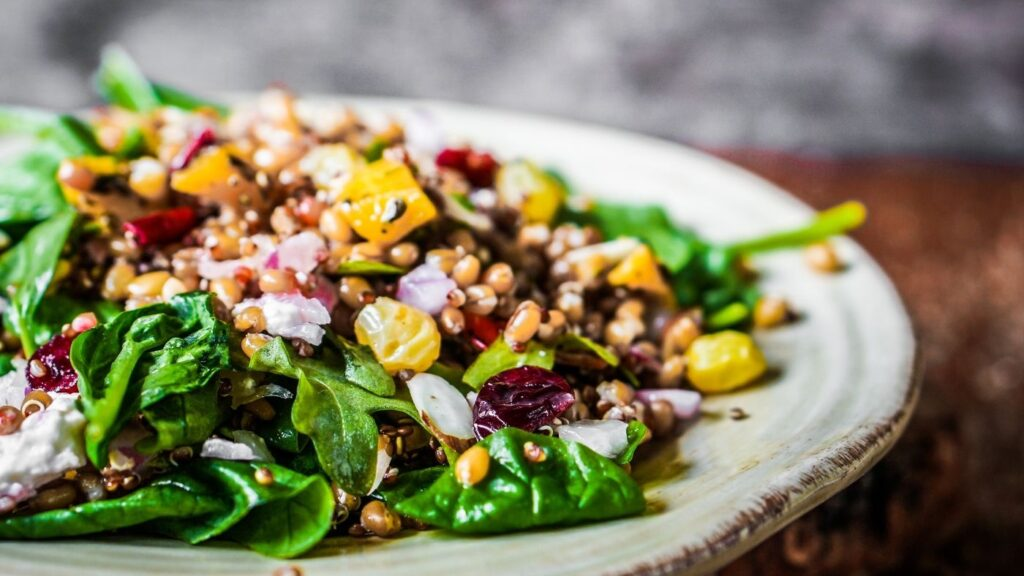 Hygge Meals - Plate of rustic salad with grains
