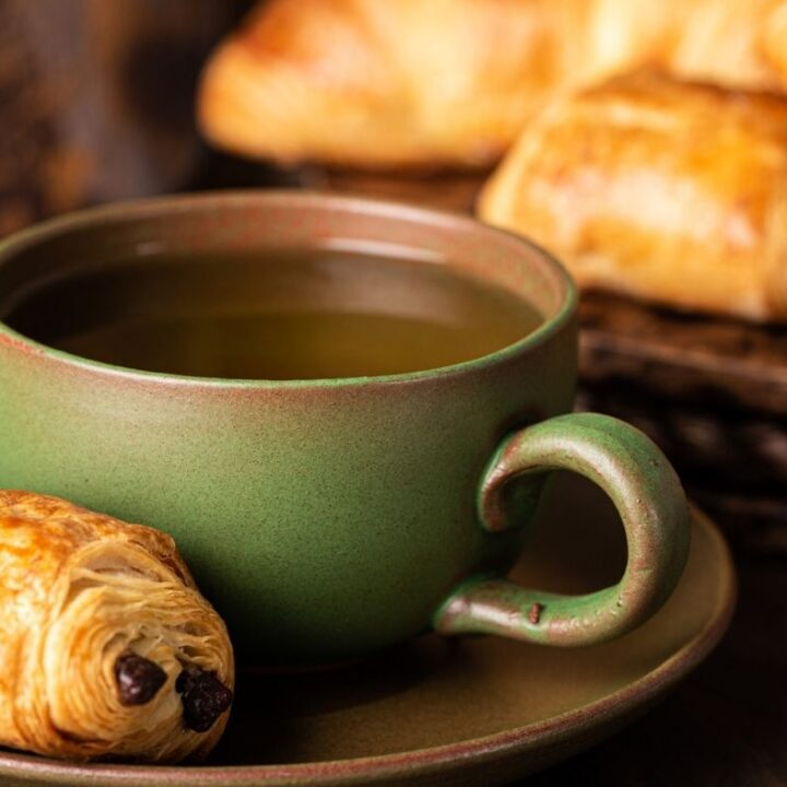 Hygge Morning Rituals to Try Today - Green Mug with pastries
