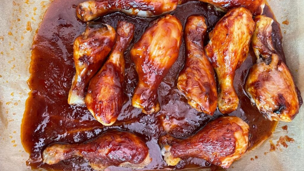 Saucy Baked Chicken Legs Recipe on Parchment Paper