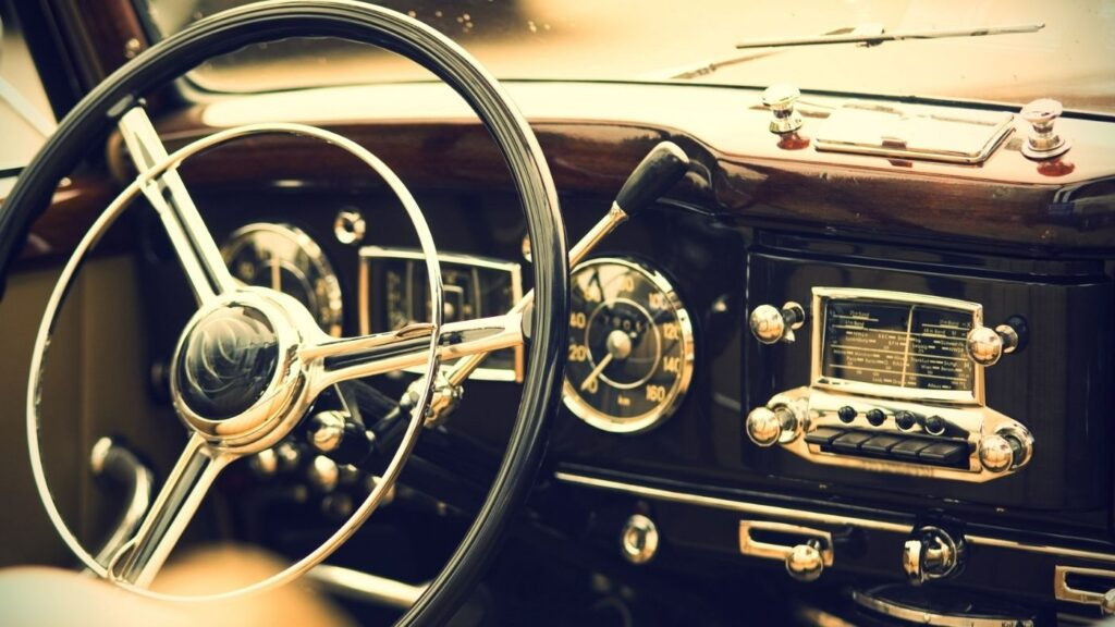 Adding Hygge to your Commute - Inside photo of a vintage car