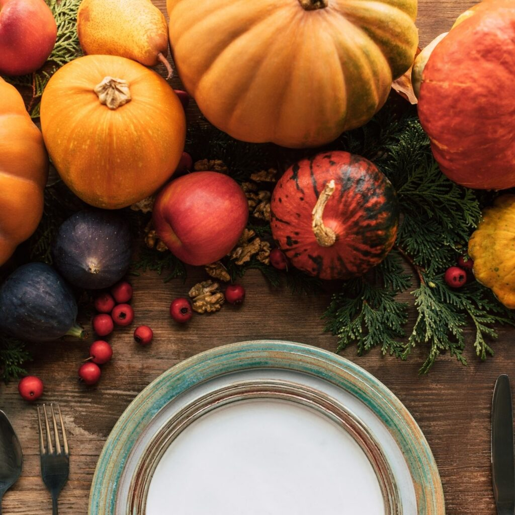 Fall Decorating with Gourds and Pumpkins - Creating a Table Runner with pumpkins and gourds