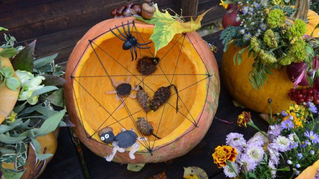 Halloween Spider Web Pumpkin Rat Trap
