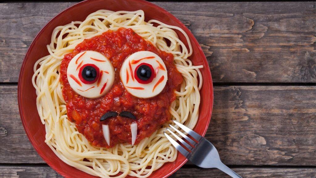 Halloween Food Ideas - Spaghetti monster