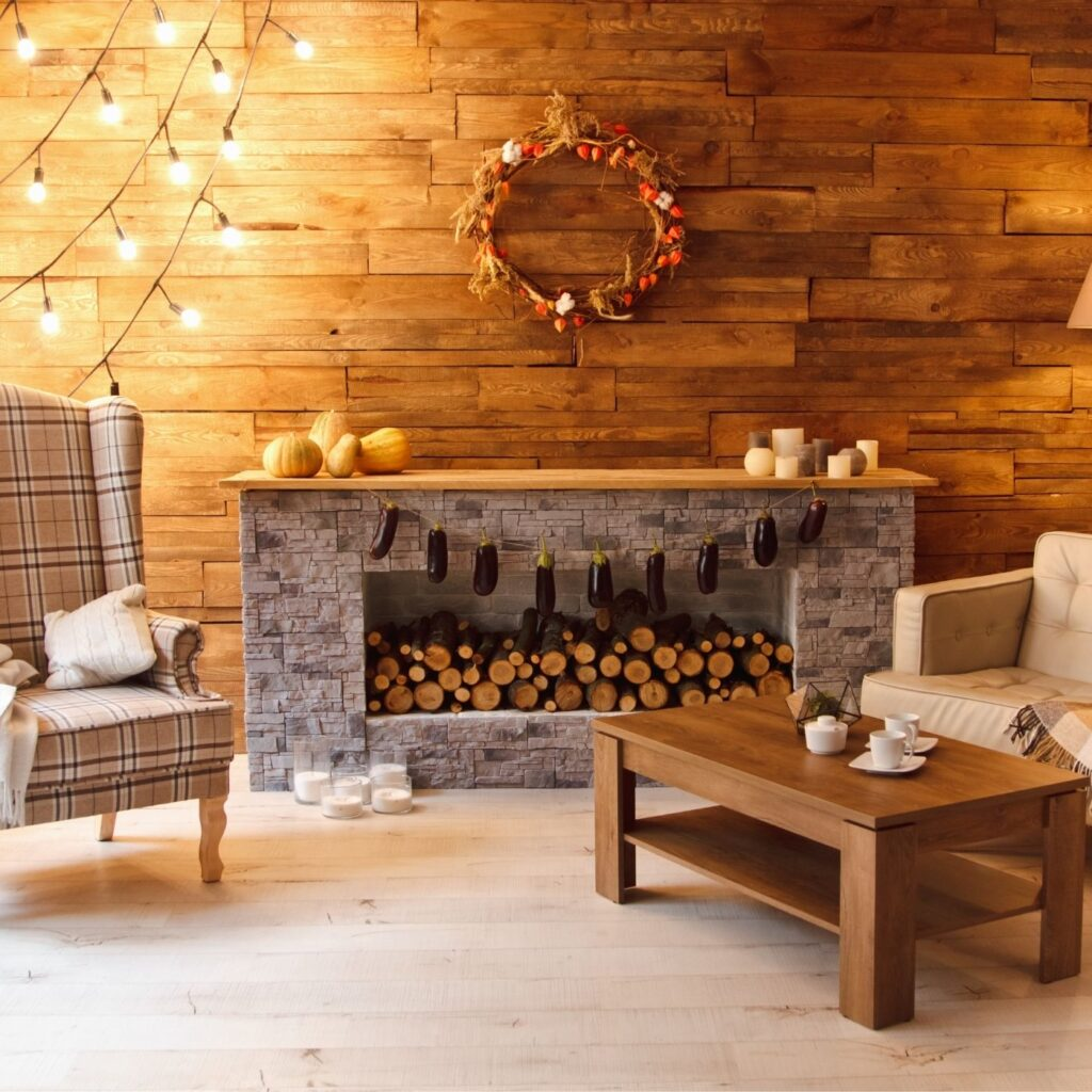 21 Ways to Make Your Home Cozy This Fall - Living room with fall decor