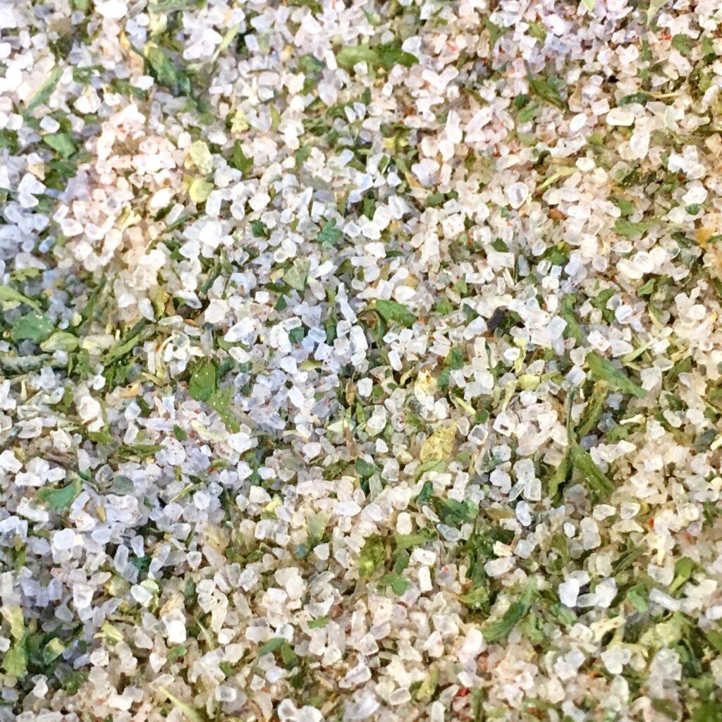 Close-up of Best Herb Salt Recipe