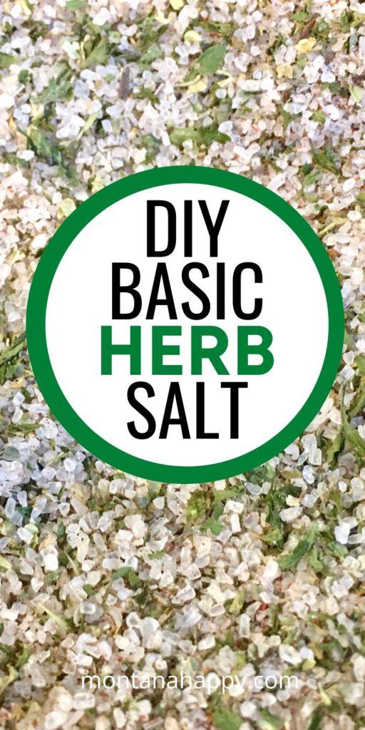 DIY Herb Salt Recipe Pin for Pinterest