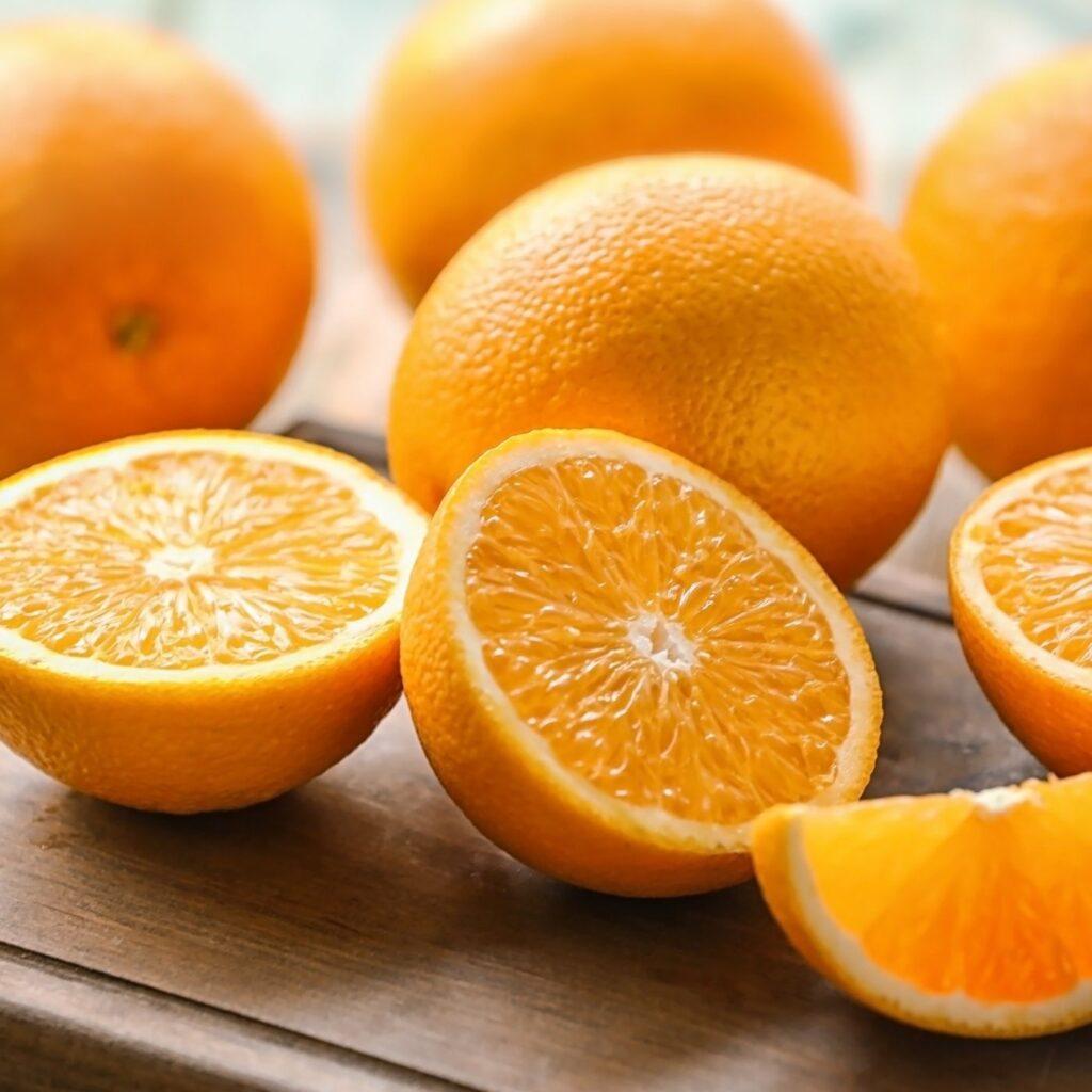 Ingredients for Beet Orange Carrot Juice - Fresh Oranges Sliced